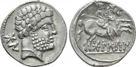 IBERIA. Bolskan. Denarius (Circa 80-72 BC). 