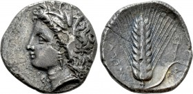 LUCANIA. Metapont. Didrachm (Circa 330-290 BC). Ad... magistrate. 