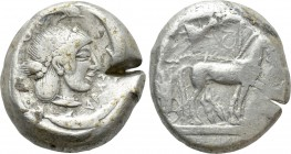 SICILY. Syracuse. Hieron I (475-470 BC). Tetradrachm. 