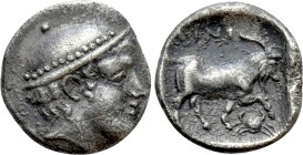 THRACE. Ainos. Diobol (Circa 408-406 BC). 