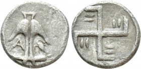 THRACE. Apollonia Pontika. Tritartemorion (Circa 494-470 BC). Milesian Standard. 