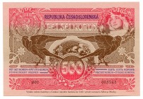 "Czech Republic Commemorative Banknote ""160th Anniversary of Birth of Alphonse Mucha"" 