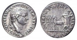 ROMAN EMPIRE. Titus, 79-81. AG Denarius, 3.18 g. Rare, pleasant good very fine, perhaps better. BMC 18; Coh. 278; RIC² 25
