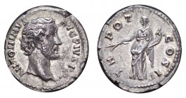 ROMAN EMPIRE. Antoninus Pius, 138-161 AD. AG Denarius, 2.89 g. Extremely fine with good lustre.