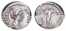 ROMAN EMPIRE. Crispina, 178-191. AG Denarius, 3.37 g. Better than very fine.