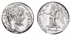 ROMAN EMPIRE. Septimus Severus, 193-211. AG Denarius, 2.78 g. Choice mint state, lustruous and appealing.