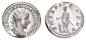 ROMAN EMPIRE. Gordian III, 238-244 AD. AG Antoninian, 4.52 g. Choice mint state with full lustre. S-8637