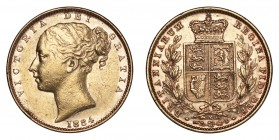 AUSTRALIA. Victoria, 1837-1901. Gold Sovereign 1884-M, Melbourne. Shield. 7.99 g. Mintage 2,942,630. Marsh 65, S.3854A. Extremely fine.