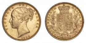 AUSTRALIA. Victoria, 1837-1901. Gold Sovereign 1884-M, Melbourne. Shield. 7.99 g. Mintage 2,942,630. Marsh 65, S.3854A. An edge knock on reverse, othe...