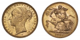 AUSTRALIA. Victoria, 1837-1901. Gold Sovereign 1885-M, Melbourne. Young Head. 7.99 g. Good very fine.