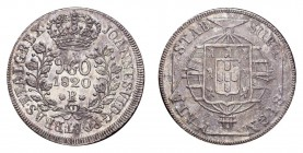 BRAZIL. Jao VI, 1818-20. 960 Reis 1820-R, Rio de Janeiro. 26.94 g. Mintage 2,063,573. KM# 326.1. Uncirculated with pleasant toning and underlying lust...