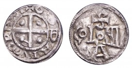 GERMANY: COLOGNE. Otto III, 983-1002. Denar 991-995, 1.28 g. Danneberg 335. Well struck with excellent detail. A few peck marks.