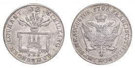 GERMANY: HAMBURG. Free city. 32 Schilling 1796, Hamburg. Gaed.653, J.37. Extremely fine.