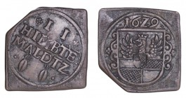GERMANY: HILDESHEIM. Brauzeichen 1629, Klippe with the usual corner cut. Very fine.