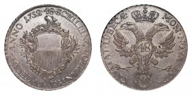 GERMANY: LUBECK. Free city. 48 Schilling 1752-JJJ, Lubeck. 27.5 g. B-291; Dav. 2420E; KM# 168.6. Couranttaler. Arms of Mayor Heinrich Rust (1750-57). ...