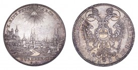 GERMANY: NURNBERG. Free city. Taler 1765-SR, Nuremberg. 28 g. KM# 350; Dav. 2494. Pleasant city view taler. Extremely fine.