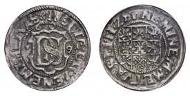 GERMANY: POMERANIA. Philipp III Julius, 1604-25. Double Schilling 1609, 2.6 g. Hildisch 197. Pleasant good very fine.