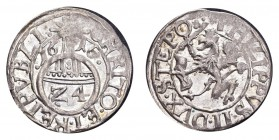 GERMANY: POMERANIA. Philipp III Julius, 1604-25. 1/24 Taler 1616, 1.76 g. Hildisch 64. Slightest weakness in legend, otherwise extremely fine or bette...