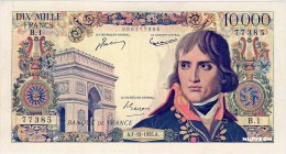 France [#136, VF+] 10000 francs Type 1955 Bonaparte