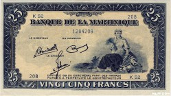 Martinique [#17, VF+] 25 francs Type 1942  (US)