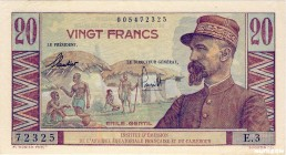 French Equatorial Africa [#30, XF] 20 francs Émile Gentil Type 1957