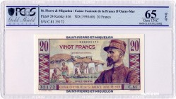 Saint-Pierre-and-Miquelon [#24, GEM] 20 francs Émile Gentil Type 1946 modifié
