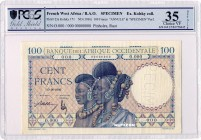 French West Africa [#23, XF] 100 francs Type 1936
