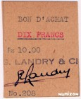 Saint-Pierre-and-Miquelon [#NL4, GEM] 10 francs Type 1942 Bon d'achat