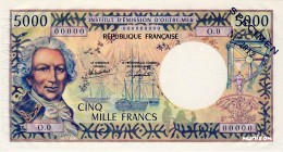 French Pacific Territories [#3, GEM] 5000 francs Polynésie française Type 1995