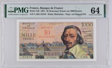 France [#138, UNC] 10 NF/1000 francs Type 1953