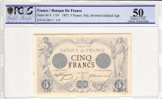 France [#60, XF+] 5 francs Type 1871