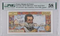 France [#135, AU] 5000 francs Type 1957 Henri IV