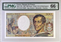 France [#155, GEM] 200 francs Type 1981 Montesquieu