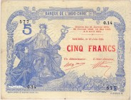 New Caledonia [#15, VF] 5 francs Type 1916