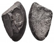Very Attractive and RARE Archaic Fragment. Circa 6th-4th BC. AR Condition: Very Fine  Weight: 6,71 gram Diameter: 20 mm