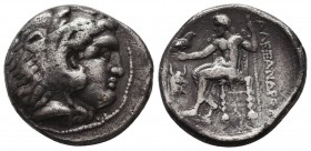 KINGDOM of MACEDON. Alexander III 'the Great', 327-323 BC.AR Drachm. Condition: Very Fine  Weight: 16,53 gram Diameter: 26,5 mm