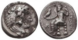 KINGDOM of MACEDON. Alexander III 'the Great', 327-323 BC.AR Drachm. Condition: Very Fine  Weight: 17,08 gram Diameter: 27 mm