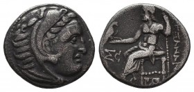 KINGDOM of MACEDON. Alexander III 'the Great', 327-323 BC.AR Drachm. Condition: Very Fine  Weight: 3,95 gram Diameter: 17,5 mm