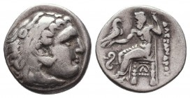 KINGDOM of MACEDON. Alexander III 'the Great', 327-323 BC.AR Drachm. Condition: Very Fine  Weight: 4,13 gram Diameter: 17,5 mm