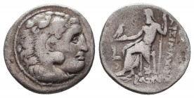KINGDOM of MACEDON. Alexander III 'the Great', 327-323 BC.AR Drachm. Condition: Very Fine  Weight: 4,06 gram Diameter: 17,5 mm