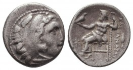 KINGDOM of MACEDON. Alexander III 'the Great', 327-323 BC.AR Drachm. Condition: Very Fine  Weight: 4,11 gram Diameter: 17 mm