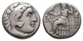 KINGDOM of MACEDON. Alexander III 'the Great', 327-323 BC.AR Drachm. Condition: Very Fine  Weight: 4,22 gram Diameter: 17 mm