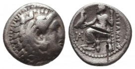 KINGDOM of MACEDON. Alexander III 'the Great', 327-323 BC.AR Drachm. Condition: Very Fine  Weight: 4,02 gram Diameter: 17 mm
