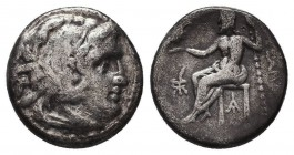 KINGDOM of MACEDON. Alexander III 'the Great', 327-323 BC.AR Drachm. Condition: Very Fine  Weight: 4,08 gram Diameter: 17 mm