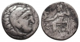 KINGDOM of MACEDON. Alexander III 'the Great', 327-323 BC.AR Drachm. Condition: Very Fine  Weight: 4,98 gram Diameter: 17 mm