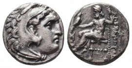 KINGDOM of MACEDON. Alexander III 'the Great', 327-323 BC.AR Drachm. Condition: Very Fine  Weight: 4,00 gram Diameter: 17 mm