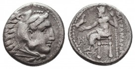 KINGDOM of MACEDON. Alexander III 'the Great', 327-323 BC.AR Drachm. Condition: Very Fine  Weight: 4,06 gram Diameter: 17 mm