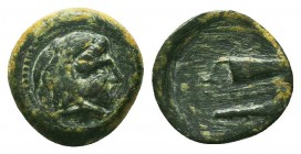 KINGS OF MACEDON. Alexander III 'the Great' (336-323 BC). Ae  Condition: Very Fine  Weight: 1,43 gram Diameter: 13 mm
