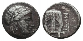 Ancient greek Ar, Condition: Very Fine  Weight: 2,41 gram Diameter: 16 mm