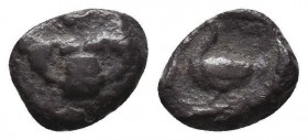 Greek Obol, Ca. 350-300 BC. AR Condition: Very Fine  Weight: 0,70 gram Diameter: 10 mm